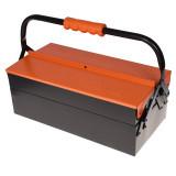 جعبه ابزار فلزی 40 سانتی 2 طبقه تانوس مدل MTB-01-402