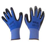 دستکش ایمنی کف مواد نیتریل او ایکس مدل 4121 رنگ آبی-مشکی سایز XL