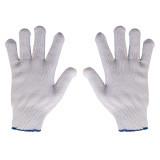 دستکش بافتنی سفید لبه آبی 75 گرمی