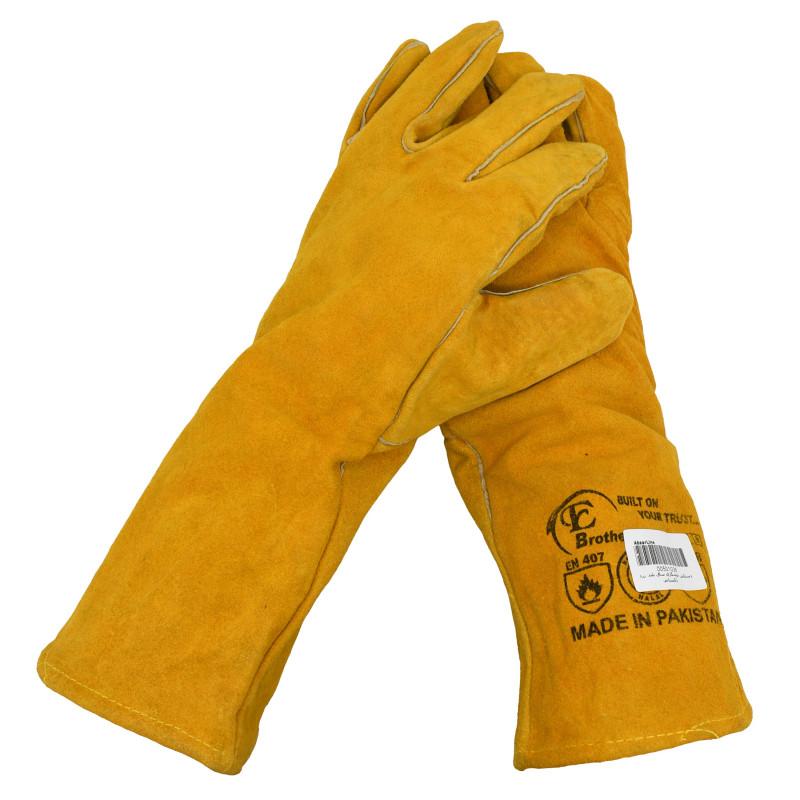 دستکش ایمنی جوشکاری نارنجی