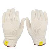 دستکش بافتنی سفید لبه قرمز 50 گرمی