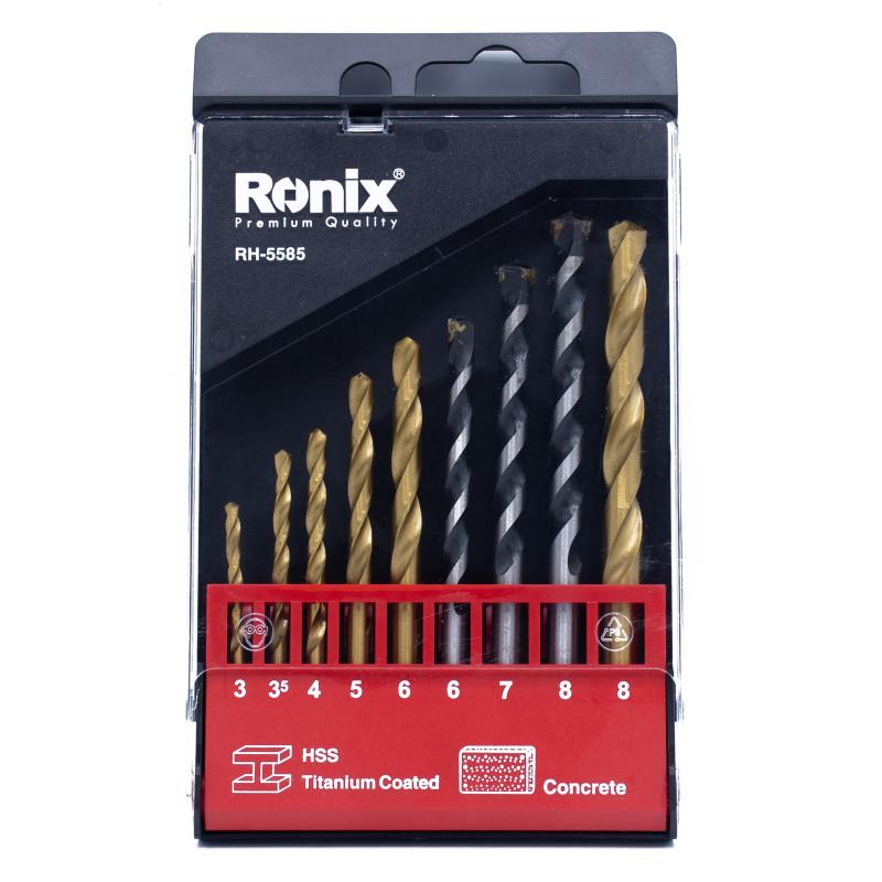 مجموعه 9 عددی مته رونیکس مدل RH-5585