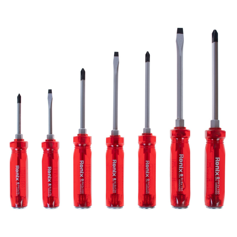 مجموعه 7 عددی پیچ گوشتی ضربه خور رونیکس مدل RH-2906