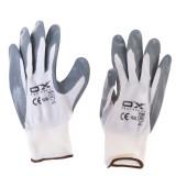 دستکش ایمنی نیتریل او ایکس مدل 2241 رنگ طوسی سفید سایز XL